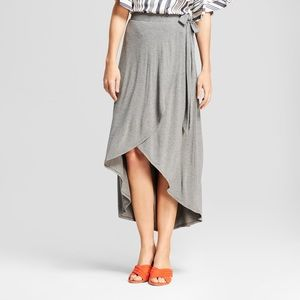 a new day Gray High Low Wrap Skirt Size XXL